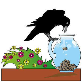 Truyện thai giáo tiếng Anh (Thai giáo ngoại ngữ): The crow and the pitcher - Tiếng Anh (có dịch)