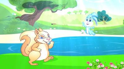 Sóc và Thỏ đi tắm nắng