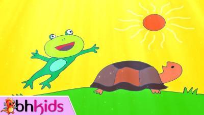 Chú Ếch xanh và bạn rùa nhỏ