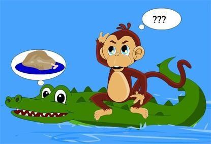 Truyện thai giáo: Khỉ và cá sấu