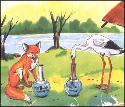Truyện thai giáo: Con cáo quỷ quyệt và con cò thông minh