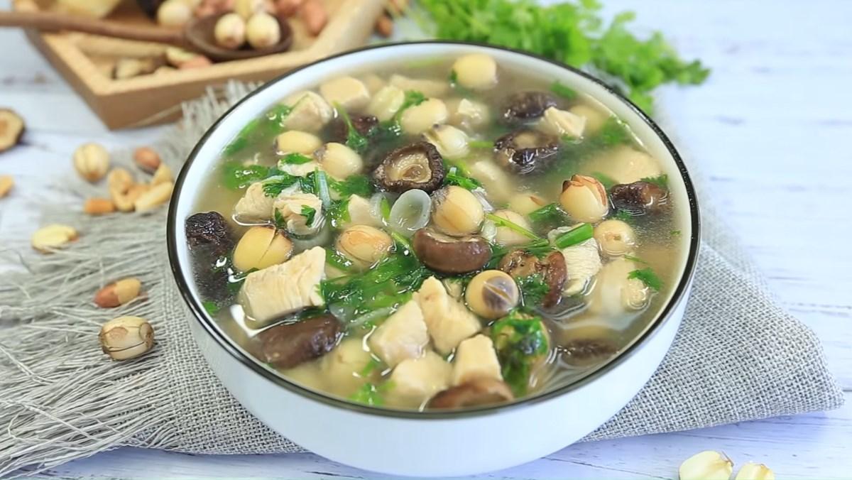 Món Canh Ngon Cho Bà Bầu 3 Tháng Đầu canh gà hạt sen