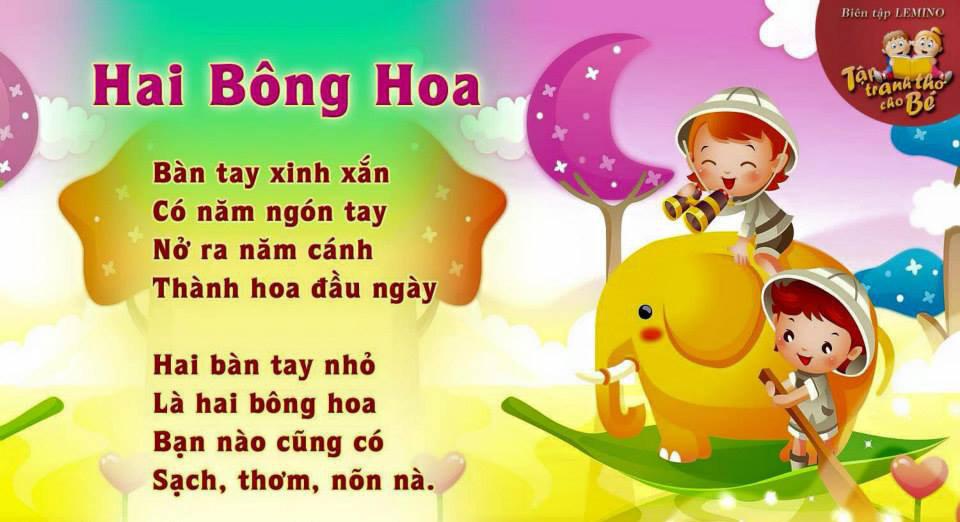 Thơ thai giáo: Hai bông hoa