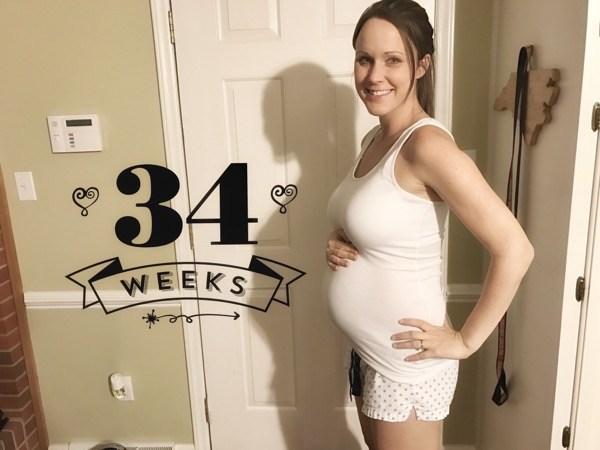 Thai 34 tuần nặng bao nhiêu, phát triển như thế nào?