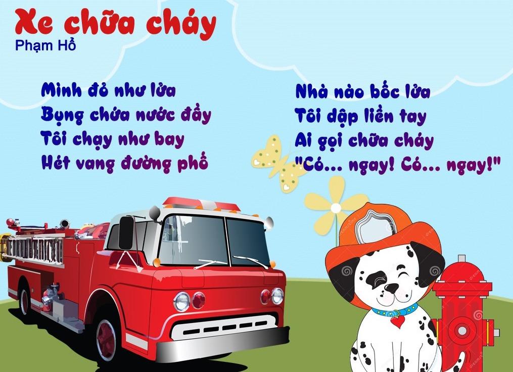 Thơ thai giáo: Xe chữa cháy