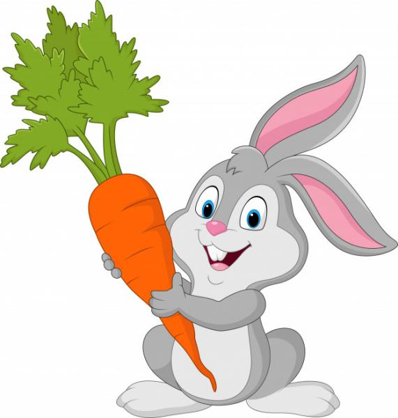 Thỏ con tham ăn