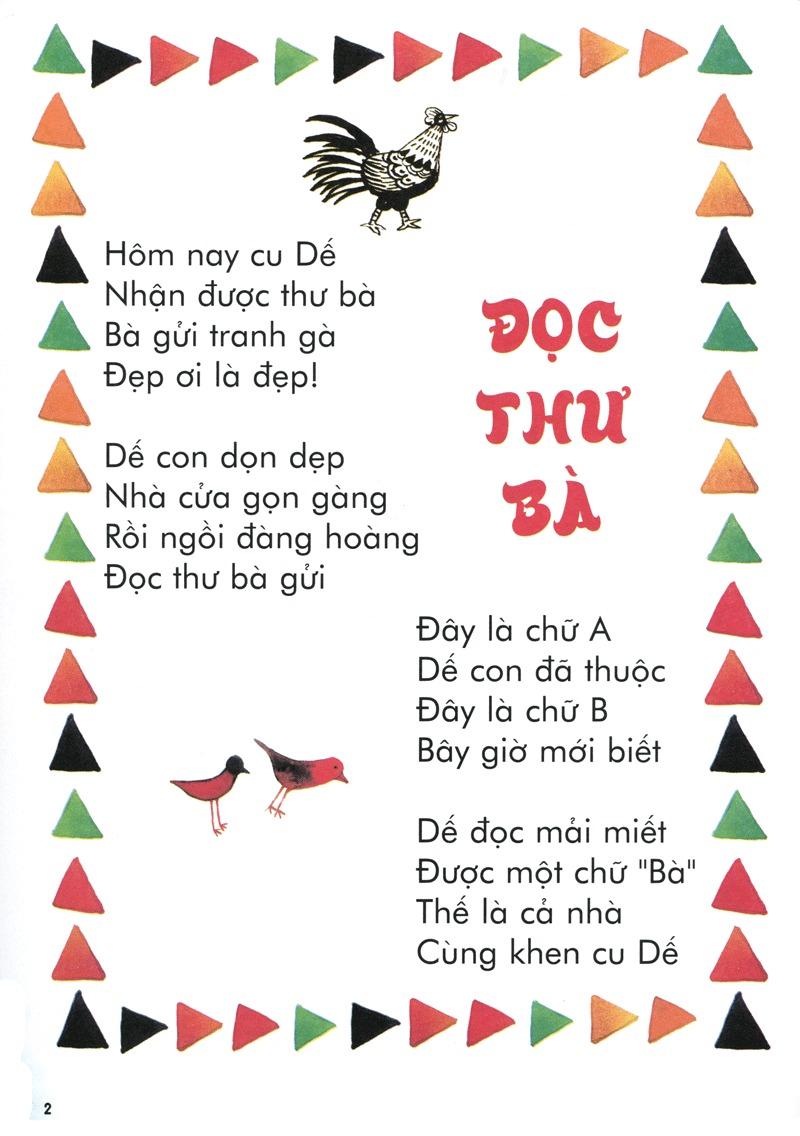 Thơ thai giáo: Đọc thư bà