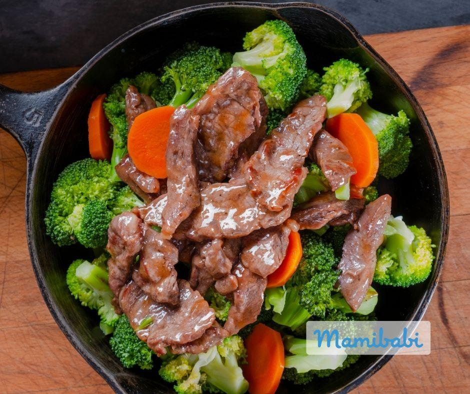 Súp lơ xào thịt bò