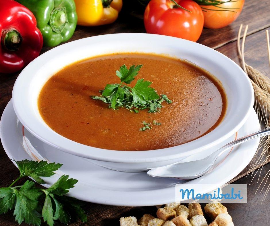 Súp cà chua thịt bò