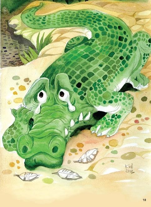 Thơ thai giáo: Nước mắt Cá Sấu