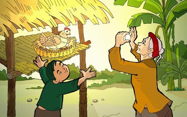 Thơ thai giáo: Tiếng gà trưa