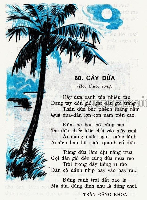 Thơ thai giáo: Cây dừa