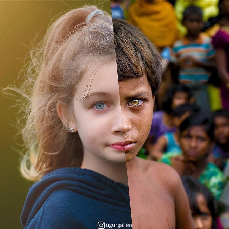Những bức ảnh được chụp lại cùng một thời điểm nhưng khác số phận 🥰 Luôn trân trọng những gì mình đang có …