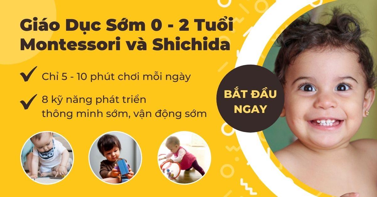 Khóa học Giáo dục sớm cho trẻ 0-2 tuổi